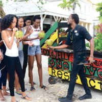 Contestants-enjoy-coconut-water-from-the-Jelly-Man-onsite-at-Melia-Braco