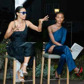 Pulse-Director-Romae-Gordon-and--superstar-model--Alicia-Burke-in-a-judging-session-for-CMS-TV (1)
