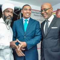 Andrew Tosh, P,M, Andrew Holness and Pulse Chairman Kingsley Cooper